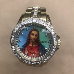 Elgin Men Jesus Christ Graphic Dial Watch,  FG9116